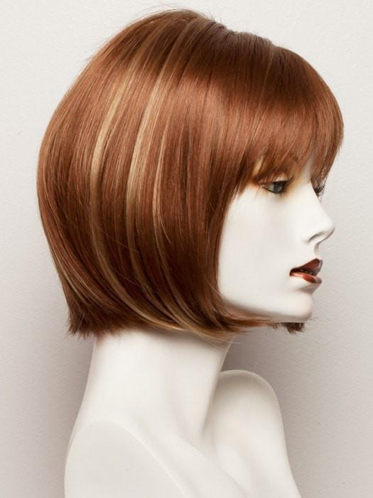 GINGER-SNAP | Medium Auburn with Honey Blonde highlights