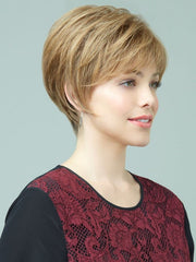 Revlon Wigs Pearl Wig: Side View | Color: 12R (Pecan)