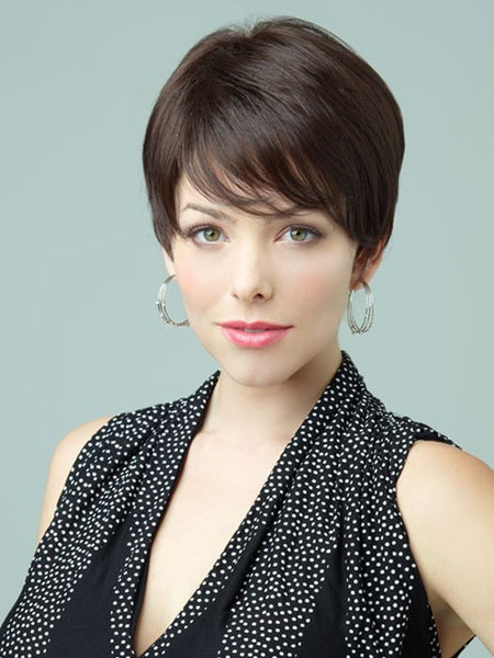 pixie haircut with long side swept bangs by revlon pixie wigs 3887 | rv6516 04 lg grande