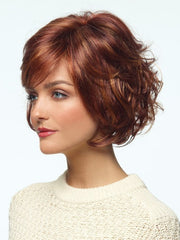 Slight angle makes this cut modern and flattering | Color: Tomato Bisque