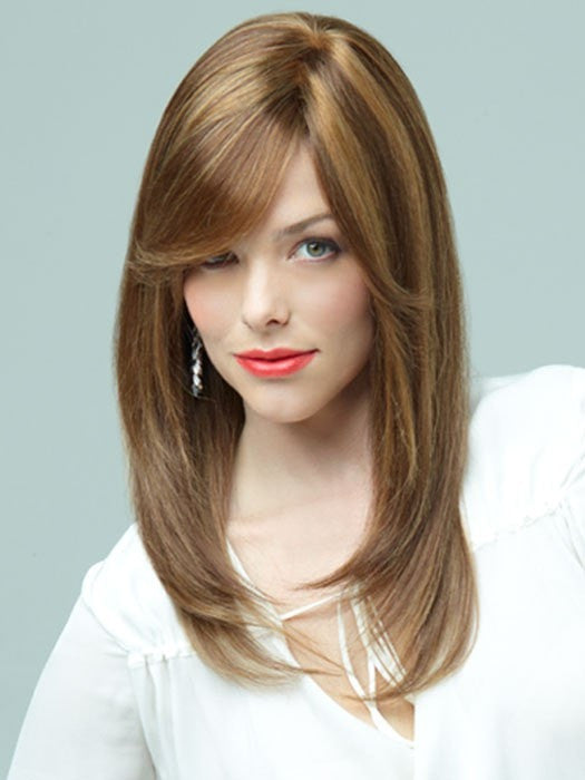 Lily by Revlon Wigs : Monofilament Top | Color HONEY-BROWN