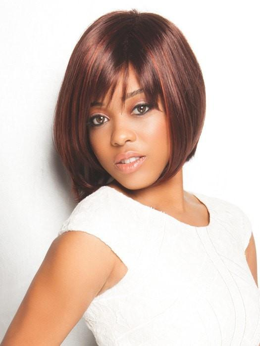 SCORPIO by Rene of Paris in CHERRY-COLA | Dark Auburn base color with brighter Red chunk highlights