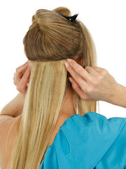 These virtually undetectable clip-in extensions can be put in & taken out in a matter of minutes