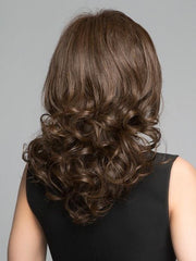 Beautiful curled tendrils that can be flat ironed smooth