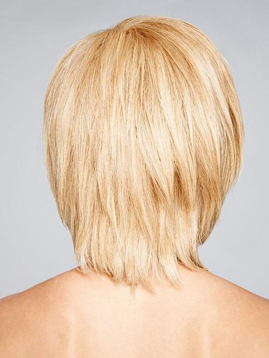 This feathered back can be straightened or curled for a more glamorous look