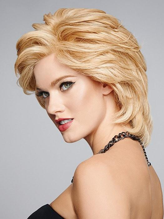 It's human hair, therefore wear it soft and feathery or tousled and flared!