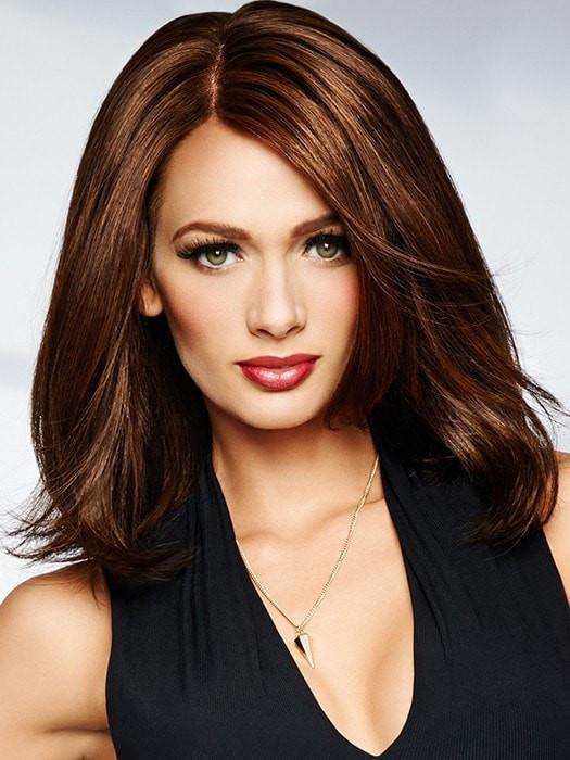 BEGUILE by Raquel Welch in R3025S GLAZED CINNAMON | Medium Auburn with Ginger Blonde Highlights on Top