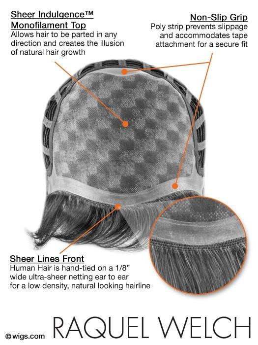 Monofilament Top - Creates the illusions of natural hair growth and allows you to part the hair in any direction