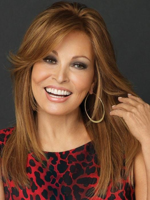 BRAVO by Raquel Welch in R3025S+ GLAZED CINNAMON | Medium Auburn with Ginger Blonde Highlights on Top