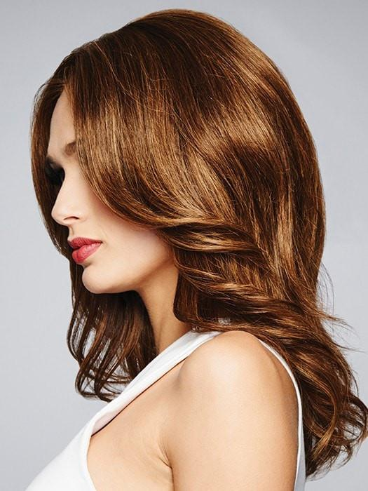 Monofilament top that gives the appearance of natural hair growth
