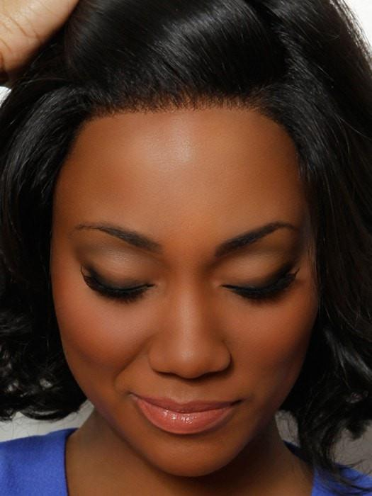 Lace Front gives a more natural look for off the face styling