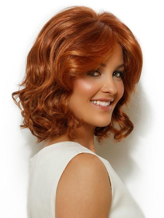 CELEBRITY by Raquel Welch in R28S+ GLAZED FIRE | Fiery Red with Bright Red Highlights on Top