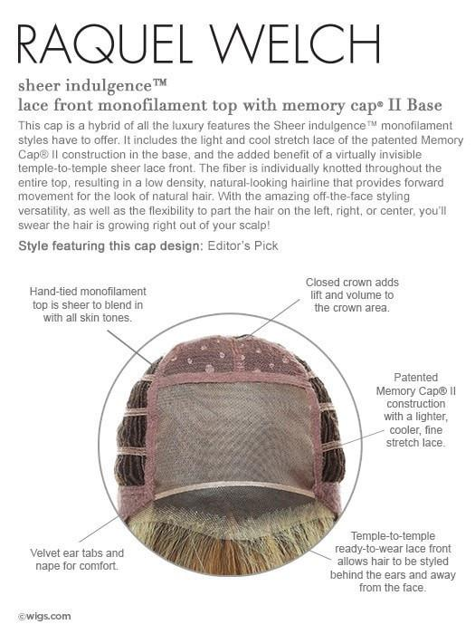 Memory Cap II with Lace Front and Monofilament Top, see cap construction chart for details!