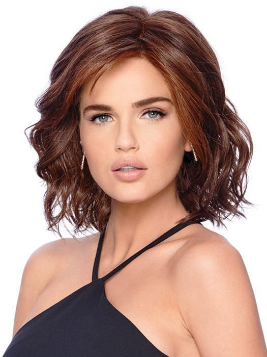EDITOR'S PICK by Raquel Welch in RL6/30H CHOCOLATE COPPER | Dark Medium Brown Evenly Blended with Medium Auburn Highlights