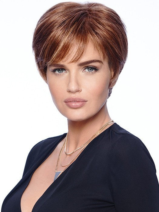 EXCITE by Raquel Welch in R3025S+ Glazed Cinnamon |  A medium reddish brown with ginger highlights on top