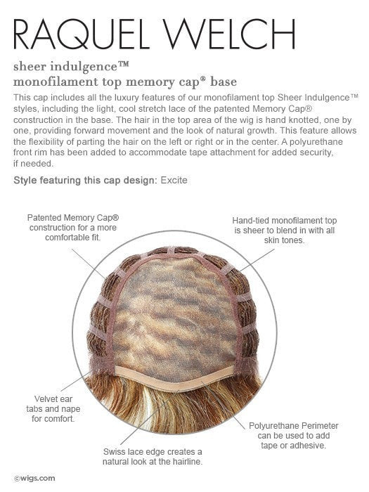 Monofilament Top, see video for more cap details