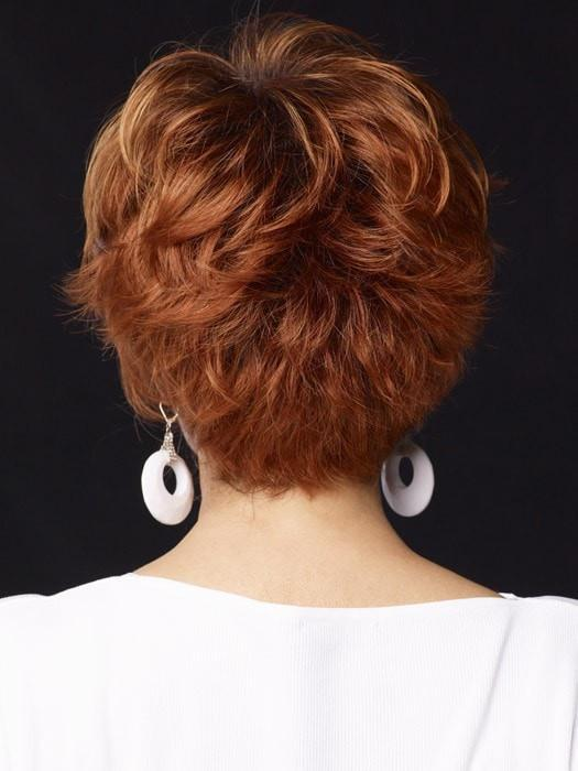 Long softly waved layers on top and sides that beautifully blend into flipped, textured ends in the back