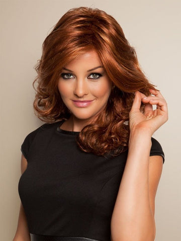 FREESTYLE by Raquel Welch in R28S+ GLAZED FIRE | Fiery Red with Bright Red highlights
