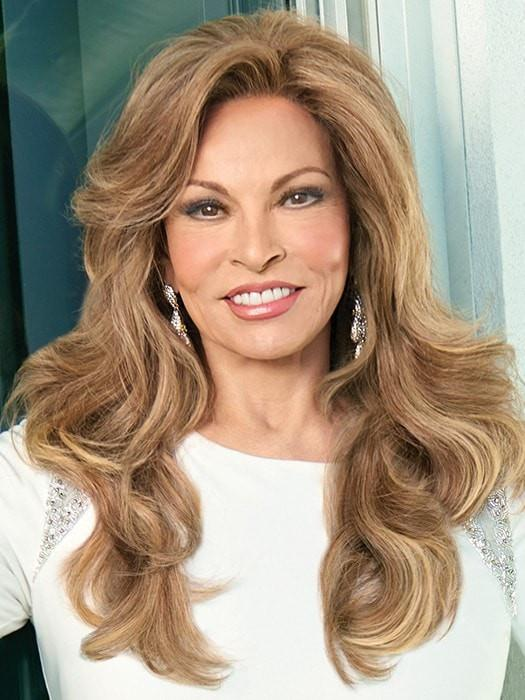 GRAND ENTRANCE by Raquel Welch in R29S+ GLAZED STRAWBERRY | Light Red With Golden Blonde Highlights
