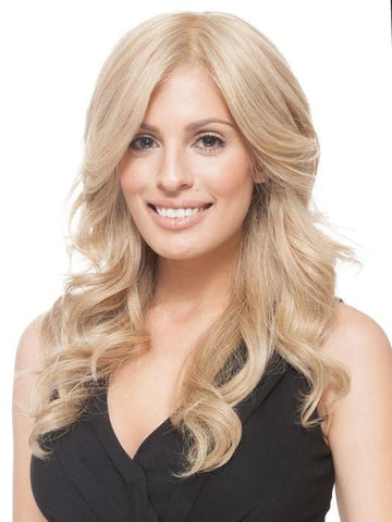 GRAND ENTRANCE by Raquel Welch in R1621S+ GLAZED SAND | Dark Natural Blonde with Cool Ash Blonde Highlights on Top