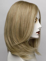 R1621S+ - Glazed Sand - Medium Honey Blonde With Platinum Blonde Highlights and Ash Brown Lowlights