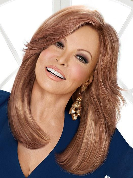 HIGH FASHION by Raquel Welch in R3025S+ GLAZED CINNAMON | Medium Auburn with Ginger Blonde Highlights on Top