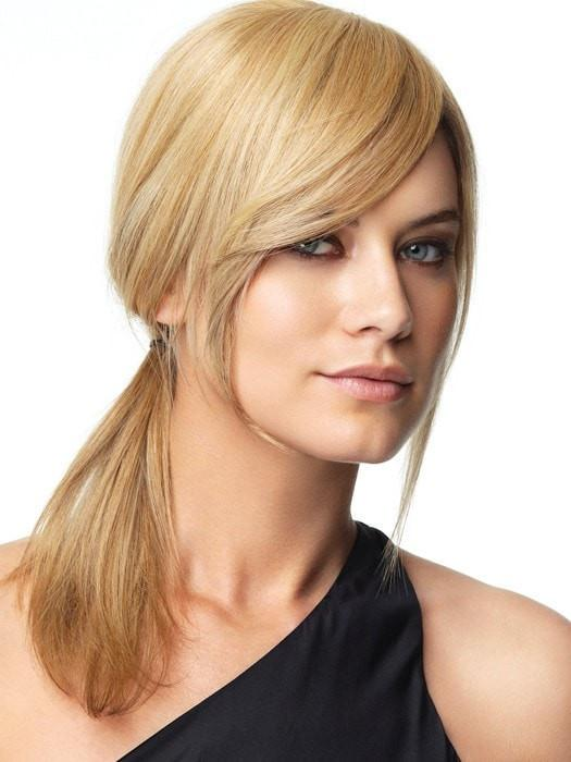 This versatile piece makes it easy for any woman to have a customized fashion bang without committing to cut her own hair