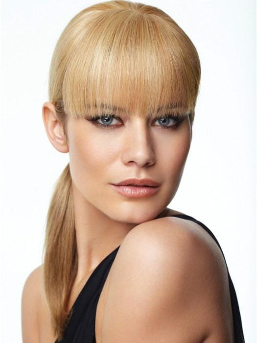 HUMAN HAIR BANG by Raquel Welch in R25 GINGER BLONDE | Medium Golden Blonde with Subtle Blonde Highlights
