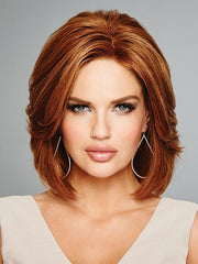 HOLLYWOOD & DIVINE by Raquel Welch in R3025S+ GLAZED CINNAMON | Medium Auburn with Ginger Blonde Highlights on Top
