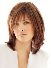 INFATUATION by Raquel Welch in R3329S GLAZED AUBURN | Rich Dark Auburn with Pale Ginger Blonde Highlights