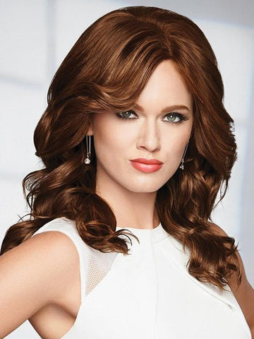 KNOCKOUT by Raquel Welch in R6/30H CHOCOLATE COPPER | Dark Medium Brown Evenly Blended with Medium Auburn Highlights