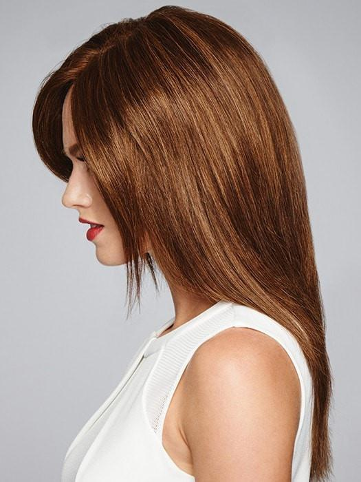 The monofilament top gives you natural movement and the look of your own hair growth where you part it