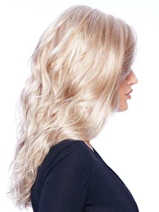"It's a style that can be ""scrunched"" up for more texture, or brushed out to create a glamorous soft wave"