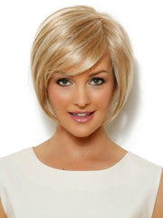 "This ""shake and go"" wig can be styled smooth and sleek out of the box, or messy and tousled"