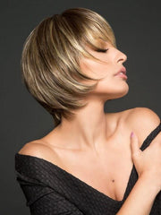 MUSE by Raquel Welch in R11S+ GLAZED MOCHA |  Medium brown with golden blonde highlights on top