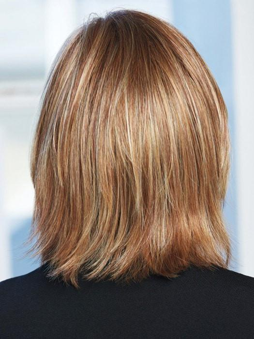 Soft ends are razor cut to add texture