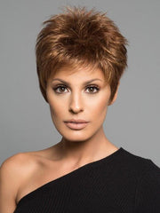 POWER by Raquel Welch in R3025S GLAZED CINNAMON | Medium Auburn with Ginger Blonde Highlights on Top
