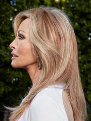100% Remy Human Hair, this wig can be styled into soft waves, with curls or styled straight