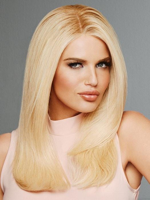 PROVOCATEUR by Raquel Welch in SS26 SHADED CHARDONNAY | Light Golden Blonde with Pearly highlights and Dark Golden Blonde roots
