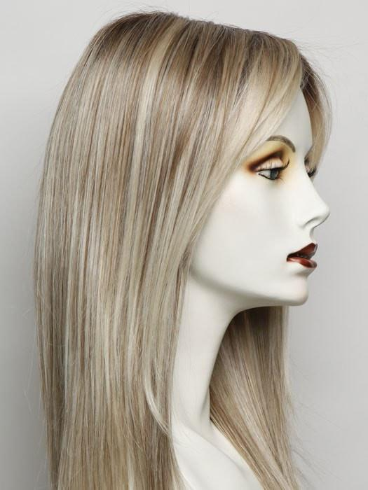 RL19/23SS SHADED BISCUIT | Light Ash Blonde Evenly Blended with Cool Platimun Blonde and Dark Roots