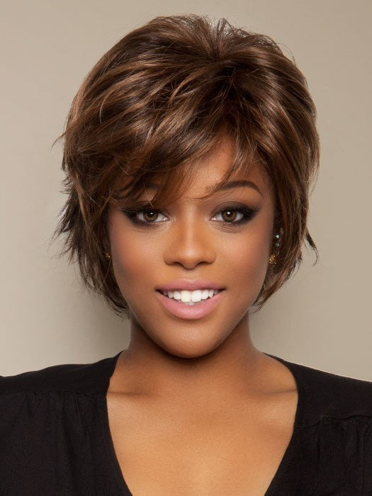 SALON COOL by Raquel Welch in R9S+ GLAZED MAHOGANY | Dark Brown with subtle, warm highlights)
