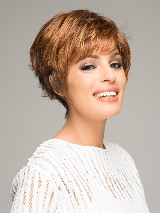 SPARKLE PETITE by Raquel Welch in R3329S+ GLAZED AUBURN | Rich Dark Auburn with Pale Ginger Blonde Highlights