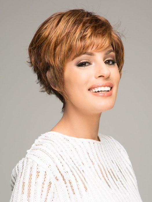 SPARKLE ELITE by Raquel Welch in R3329S+ GLAZED AUBURN | Rich Dark Auburn with Pale Ginger Blonde Highlights