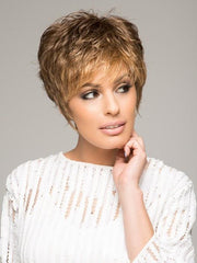 SPARKLE ELITE by Raquel Welch in R9F26 MOCHA FOIL | Warm Medium Brown with Medium Golden Blonde Highlights Around the Face