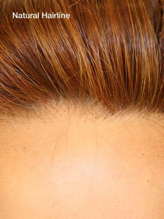 Virtually invisible lace front