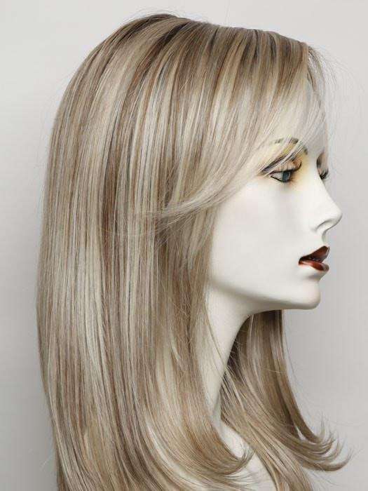 RL19/23SS SHADED BISCUIT | Light Ash Blonde Evenly Blended with Cool Platinum Blonde with Dark Roots