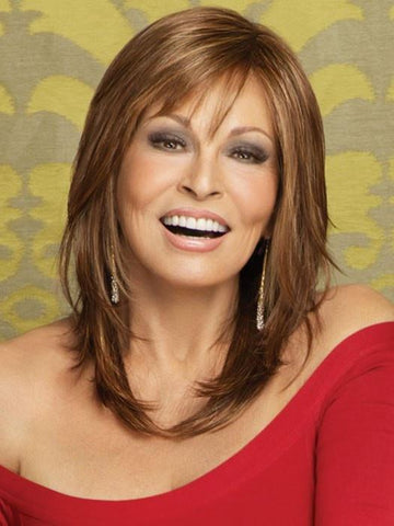 STAR QUALITY by Raquel Welch in R3025S+ GLAZED CINNAMO  | Medium Auburn with Ginger Blonde Highlights on Top