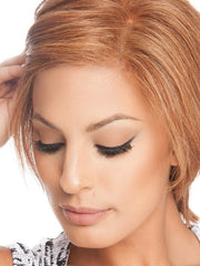 The Sheer Indulgence Monofilament Top and Lace Front give a scalp like appearance | Color: R3025S+