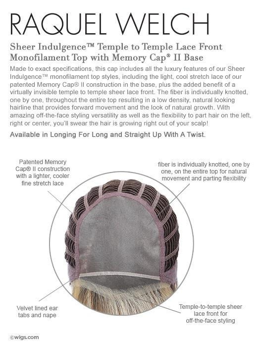 Monofilament Top Memory Cap II - Temple to Temple Lace Front