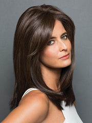 TOP BILLING Hair Topper by Raquel Welch in RL4/6 BLACK COFFEE | Dark Brown Evenly Blended with  Medium Brown